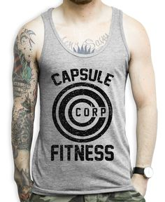 Capsule Corp on a Unisex Tank Top Show some Dragon Ball Z Love with this nerdy workout shirt! Train with the Capsule Corp!