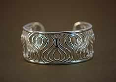 """Sterling Silver """"Plume"""" Cuff Bracelet by Thistle & Bee from J. Schrecker Jewelry. Visit us at our website or at www.facebook.com/jschreckerjewelry"""