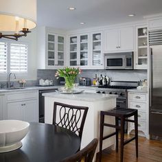 White L Shaped Kitchens Design, Pictures, Remodel, Decor and Ideas - page 4