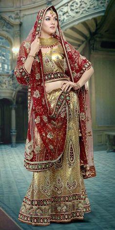 Gorgeous Net Bridal Lehenga. Item code: GKD374