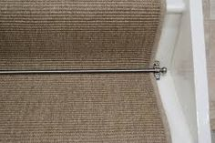 Image result for dark hessian carpet on stairs