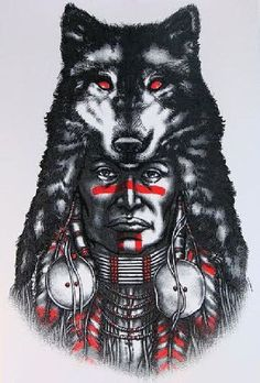 """Native American Indian Fox Headdress UNISEX T Shirts GIANT IMAGE 13"""" X 19"""" Please be sure to check our size chart before purchasing. Choose Shirt Color: Gray, White Choose Size: M L XL 2XL (3X Gray On"""