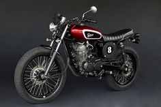 The Bali branch of motorcycle experts Deus Ex Machina turned a Honda Tiger - a bike that's popular in Indonesia - from an ugly commuter bike into a classy Honda Motorcycles, Custom Motorcycles, Custom Bikes, Motorcycle Tank, Motorcycle Style, Honda Cb 100, Honda Tiger, Flat Tracker, Cafe Racing