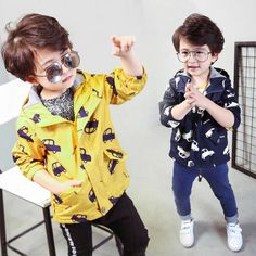 Cool New Spring Jacket Boys Girls Kids Outerwear Cute Car Windbreaker Coats Print Canvas Baby Children Clothing - $30.87 - Buy it Now!
