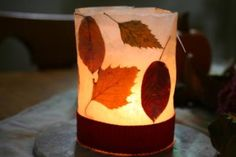 Blätter als Gestaltungselemente #diy #laterne #herbst
