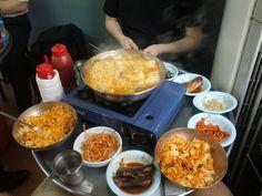 서울 남대문 심원갈비(라면된장찌개)