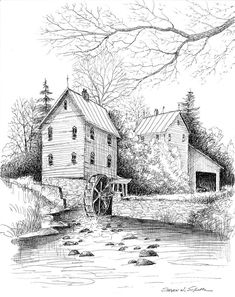 River Mill Painting