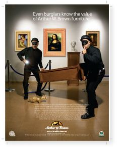 Arthur W. Brown Furniture Company Featured Ads