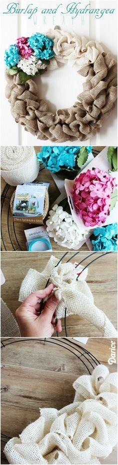 DIY Burlap Wreath - Easy and elegant!