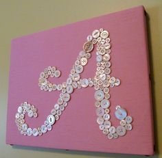 Kali and I are going to make a K like this for her room.