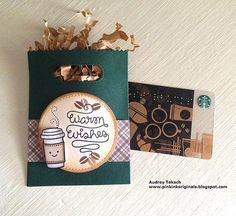 Coffee gift card holder | See more at www.pinkinkoriginals.b… | Flickr