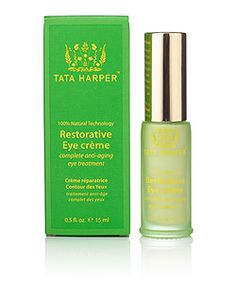 Tata Harper Restorative Eye Cream and the entire Tata Harper Natural Skin Care line at Spirit Beauty Lounge.