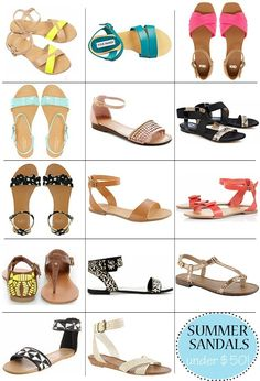 Glitter Guide | Summer Sandals Under Fifty Dollars