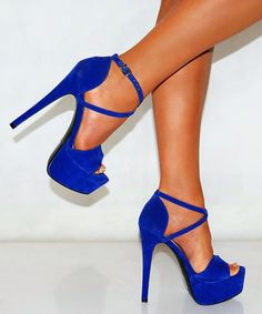 🍁Sale🍁Blue rhinestone suede heels | Shoes heels, Rhinestones and ...