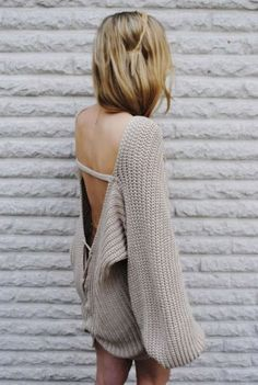 I think backless is sexy, even when it's a sweater. weakness.