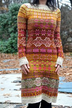 Modification Monday: Graduation Dress Source by inkyblot Dresses Fair Isle Knitting, Hand Knitting, Fair Isle Pattern, Mode Inspiration, Knit Dress, Graduation Dresses, Knitwear, Knit Crochet, Knitting Patterns