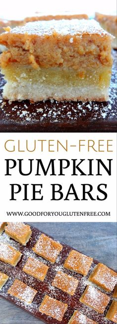 Gluten-Free Pumpkin Pie Bars Recipe - Good For You Gluten Free
