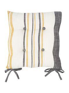 Yellow stripe seat pad