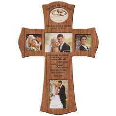 Personalized Wedding Photo Frame Wall Cross - On Our Special Day