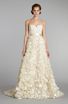 #wedding dress from Lazaro, Fall 2012 - with a rhinestone belt!!!