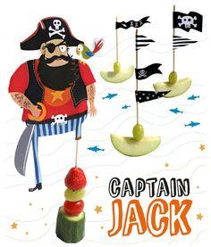 healthy kids snack captain jack - pirates By Nanacake for Moodkids Birthday Treats, 1st Boy Birthday, Party Treats, Pirate Birthday, Pirate Theme, Captain Jack, Diy For Kids, Crafts For Kids, Party Mottos