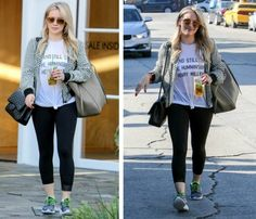 Hilary Duff Gym Style - Click to shop the look