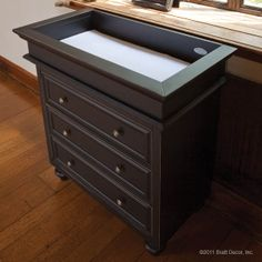 classic changing chest black with top transformed