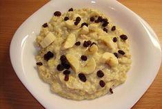 Rychlá ovesná kaše ke snídani Oatmeal, Breakfast, Food, The Oatmeal, Morning Coffee, Rolled Oats, Essen, Meals, Yemek