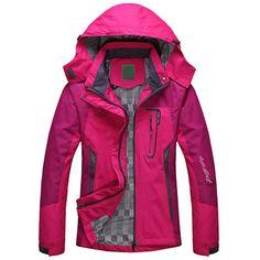 Price-22$         2017 Spring Autumn Winter Women Jacket Single thick outwear Jackets Hooded Wind waterproof Female Coat parkas Clothing