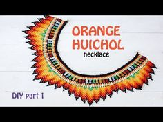 Final Part of DIY for the Orange Huichol necklace plus Beading Book ads. Beading Projects, Beading Tutorials, Beading Patterns, Beading Techniques, Beaded Collar, Crochet Accessories, Diy Necklace, Bead Art, Bead Weaving
