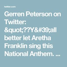 "Gerren Peterson on Twitter: ""😩😂Y'all better let Aretha Franklin sing this National Anthem. No interruptions. Happy Thanksgiving! #MINvsDET #NFL https://t.co/jyoUfv4nwn"""