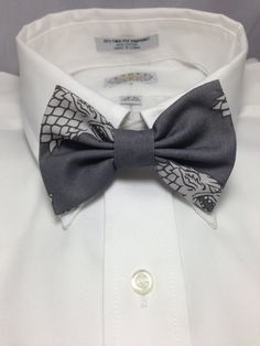 Game of Thrones House Stark Dire Wolf Sigil Print Bowtie / Bow Tie