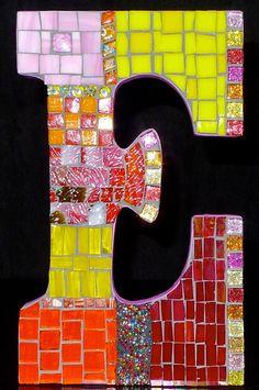 Mosaic Letters Initials by wonderlandmosaics on Etsy