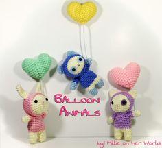 Balloon Animals by MillieOnHerWorld Gratis patroon
