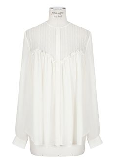 Lover ivory buttoned silk and lace shirt.