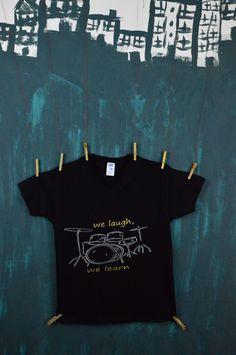 Koszulka Perkusja (czarno-srebrna)