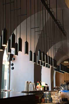 Lighting by PSLab for Issam Barhouch, Archtects on Gilt Bar and Restaurant, Beirut.