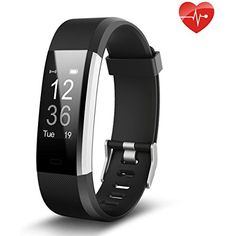 Fitness Tracker, Juboury Slim Heart Rate Smart Bracelet Wearable Pedometer Touch Screen Activity Tracker Fitness Watch for Android and IOS Smart Phones *** Learn more by visiting the image link. (This is an affiliate link) #ExerciseFitness