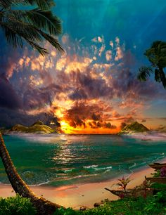 Breath Of Heaven / Satoshi Matsuyama  #Satoshi Matsuyama #Hawaii #art #Landscape