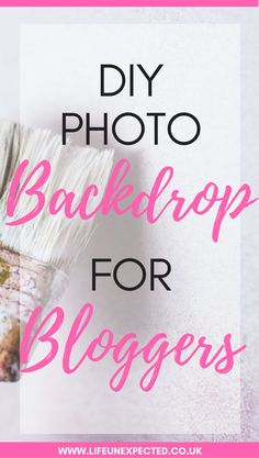 DIY Photo backdrop f