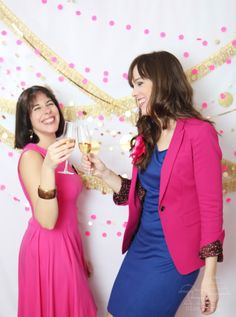 Elegantes y alegres photocall de Nice Party #bodas