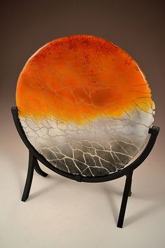 Crackle Fused Glass Sculpture Path Made to order by Krenzin11