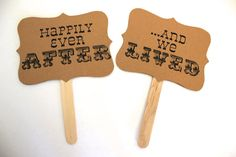 HAPPILY EVER AFTER wedding photo props Custom by sugarplummoose, $9.00
