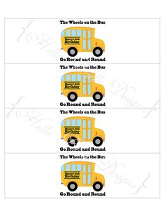 Wheels on the Bus Printable Drink Labels by HelloBrielle on Etsy, $5.00