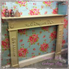 vintage fireplace painted with Autentico almond