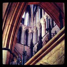 Lincoln Cathedral #cathedral #high #city #brick #stone #window #stainedglass #arch #spiritual #iron #decorative #old