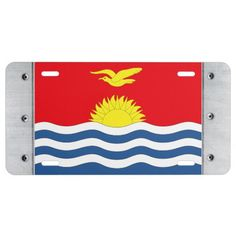 Shop Kiribati Flag License Plate created by SuperFlagShop. Kiribati Flag, Custom Front License Plates, Vanity Plate, Political Events, National Flag, Activity Games, Dog Bowtie, Flags, Banner