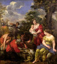 'Laban Seeking his Idols', Pietro Da Cortona, also called Pietro Berrettini, (1596/7-1669). Bristol Museum