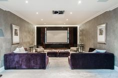 Space in the middle is smart for a media room