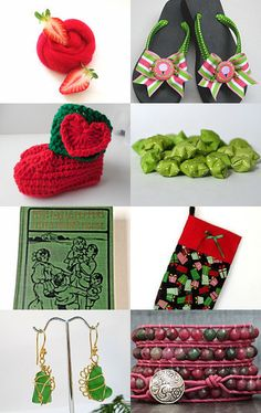 Strawberry and basil by lamamadesmatous on Etsy--Pinned with TreasuryPin.com